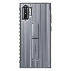 Etui Protective Standing Cover do Samsung Galaxy Note 10+ srebrne