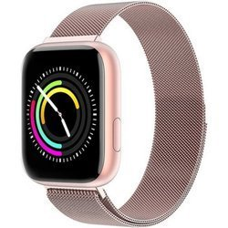 Zegarek - Smartwatch Damski Garett Eva różowy stalowy