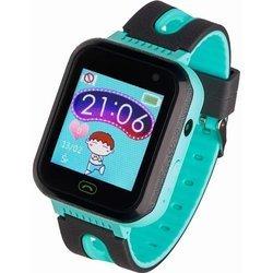 Zegarek - Smartwatch dla Dzieci Garett Kids Fine czarno-zielony