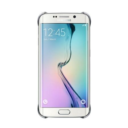 Etui Clear Cover do Samsung Galaxy S6 Edge, Srebrny