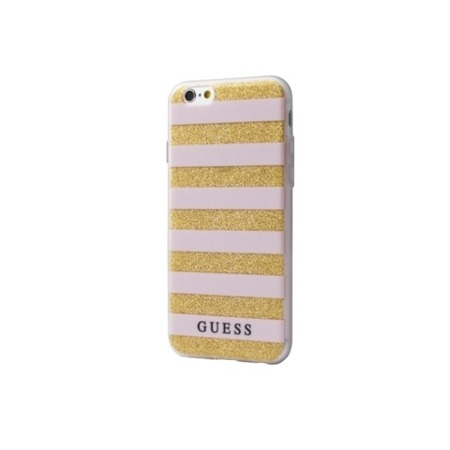 Etui Guess do iPhone 6/6S pink hardcase Ethnic Chic Stripes 3D