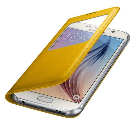 Etui S View Cover do Samsung Galaxy S6, Żółty
