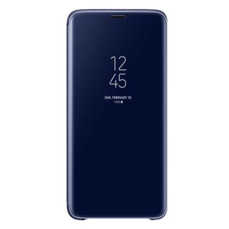 Etui Samsung Clear View Standing Cover do Galaxy S9+ niebieskie