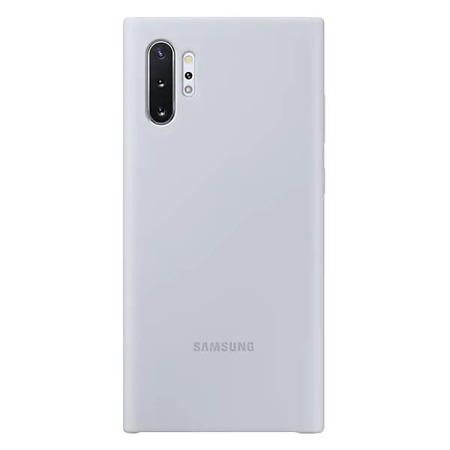 Etui Silicone Cover do Samsung Galaxy Note 10+ srebrne
