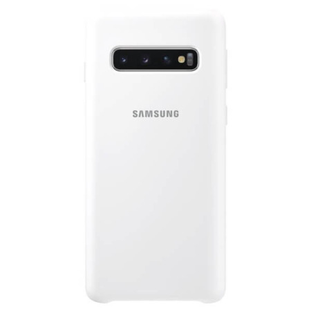 Etui Silicone Cover do Samsung Galaxy S10 białe
