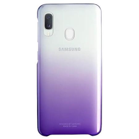 Etui do Samsung Galaxy A20e Gradation Cover fioletowe