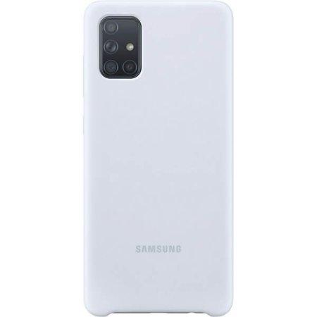 Etui do Samsung Galaxy A71 silikonowe srebrne