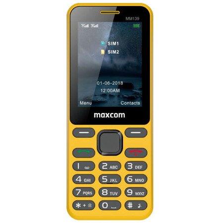 Telefon MAXCOM Classic MM139 żólty
