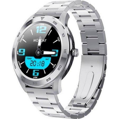 Zegarek - Smartwatch Garett GT22S srebrny - stalowy