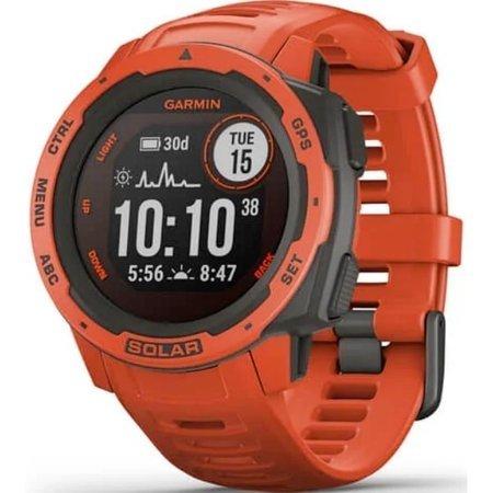 Zegarek - Smartwatch Garmin Instinct Solar czerwony