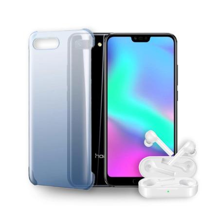 Zestaw HONOR 10 4/128GB czarny + słuchawki + etui